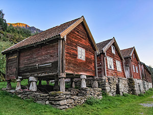 Wooden houses in the abandoned village Otternes, one of the reasons to visit Aurland, Norway, photo by Ivan Kralj