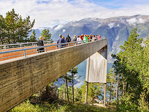 Architectural masterpiece, Stegastein viewpoint or Aurland lookout, one of the best ways to see the Aurlandsfjord from above, photo by Ivan Kralj
