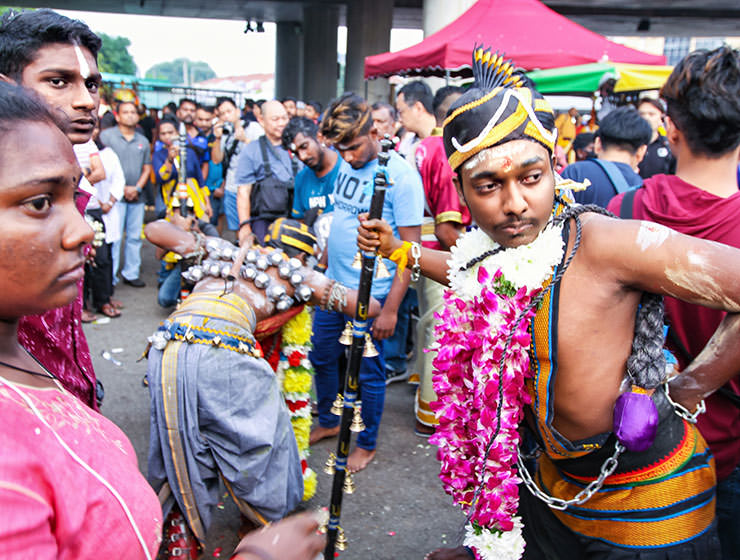 Devotees at Thaipusam Festival 2019 at Batu Caves, Malaysia, photo by Ivan Kralj