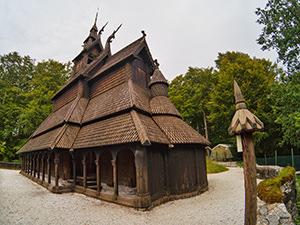 Fantoft Stave Church close to Bergen, Norway, photo by Ivan Kralj