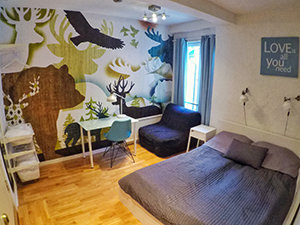 The interior of the room at Marken Guesthouse, an answer to where to sleep in Bergen, Norway, photo by Ivan Kralj
