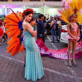 Ladyboy posing at Chiang Mai Pride, gay parade in Chiang Mai, Thailand, photo by Ivan Kralj
