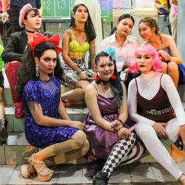 Participants posing at Chiang Mai Pride, gay parade in Chiang Mai, Thailand, photo by Ivan Kralj