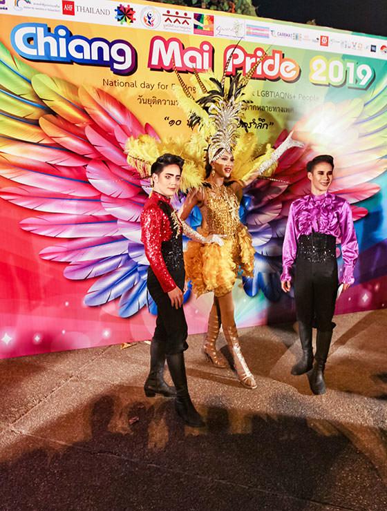Performers posing at Chiang Mai Pride, gay parade in Chiang Mai, Thailand, photo by Ivan Kralj