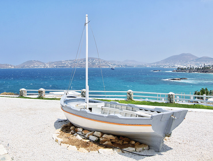 A small boat on the shores of Paros Bay in Greece - what have been the bestselling bookings for accommodation properties in 2018 according to Pipeaway's readers? photo by Ivan Kralj