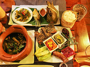 An introduction to Lao cuisine, a set menu at Tamarind Restaurant; eating here is considered to be one of the best things to do in Luang Prabang, Laos, photo by Ivan Kralj