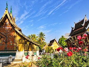 The complex of buildings at Wat Xieng Thong, one of the best temples to visit in Luang Prabang, Laos, photo by Ivan Kralj