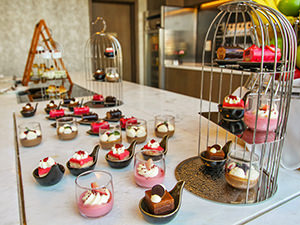Cake selection at Executive Club Lounge in Crowne Plaza Vientiane, 5 star hotel in Laos capital, photo by Ivan Kralj