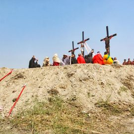 The crucifixion in Pampanga, San Fernando, is the highlight of the Maleldo 2019, Holy Week Philippines, here devotees get crucified in San Pedro Cutud, photo by Ivan Kralj