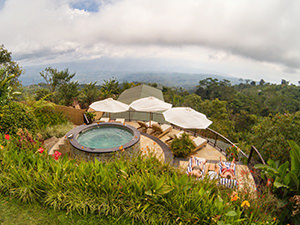 Views of Northern Bali from the Jacuzzi at Munduk Moding Plantation, Indonesia, photo by Ivan Kralj
