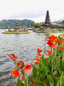 Ulun Danu Beratan, the famous temple on the water in Bali, Indonesia, photo by Ivan Kralj