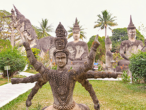 Exploring statues in Buddha Park is one of the weirdest things to do in Vientiane, Laos, photo by Ivan Kralj