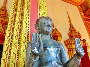 One of Buddha statues in Haw Phra Kaew in Vientiane, Laos, photo by Ivan Kralj
