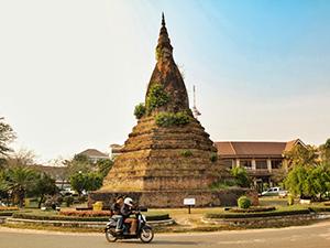 That Dam or the Black Stupa, an often overseen landmark in Vientiane, Laos, photo by Ivan Kralj