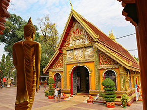 Wat Si Muang temple building, one of the top 20 places to visit in Vientiane, Laos, photo by Ivan Kralj