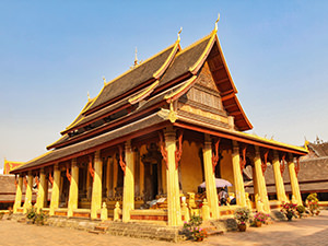 Wat Si Saket, the oldest surviving Buddhist temple in Vientiane, Laos, photo by Ivan Kralj