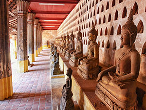 Thousands of Buddha statues in the cloister of Wat Si Saket, one of the best things to do in Vientiane, Laos, photo by Ivan Kralj