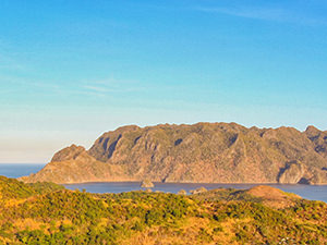 Coron Island silhouette resembles a human face, so some call it a Sleeping Giant, explained Roland, the guide of Coron Island Tour by JY Travel and Tours, Coron, Palawan, Philippines, photo by Ivan Kralj