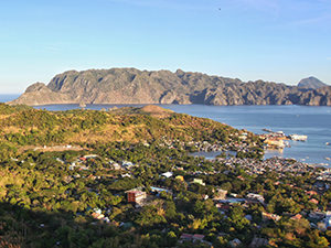 View of Coron from the Coron Town viewpoint on Busuanga Island, Palawan, Philippines, photo by Ivan Kralj