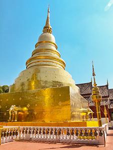 Golden stupa of Wat Phra Singh in Chiang Mai, Thailand, photo by Ivan Kralj