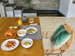 Breakfast served in the villa at Origin Seminyak, one of the best hotels in Bali, Indonesia, photo by Ivan Kralj