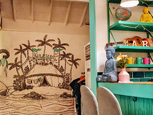 Sea Circus bar and restaurant, with decor celebrating circus, sea themes and Buddhism, photo by Ivan Kralj