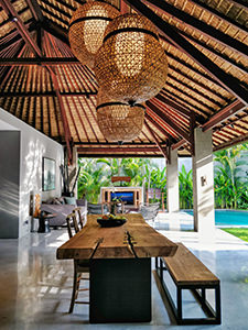Open-air dining room in the pool villa of The Amala Estate, one of the best hotels in Bali, photo by Ivan Kralj