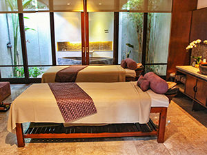 Two massage beds in The Amala Spa, a luxury escape in Bali, Indonesia, photo by Ivan Kralj