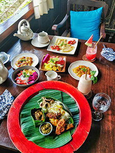 Rich breakfast at Tugu Bali, one of the best hotels in Bali, Indonesia, photo by Ivan Kralj