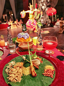 Tugu Rijsttafel, a traditional Indonesian meal at Tugu Bali, luxury escape in Indonesia, photo by Ivan Kralj