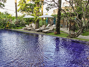 Swimming pool at Tugu Bali, one of the best hotels in Bali, Indonesia, photo by Ivan Kralj