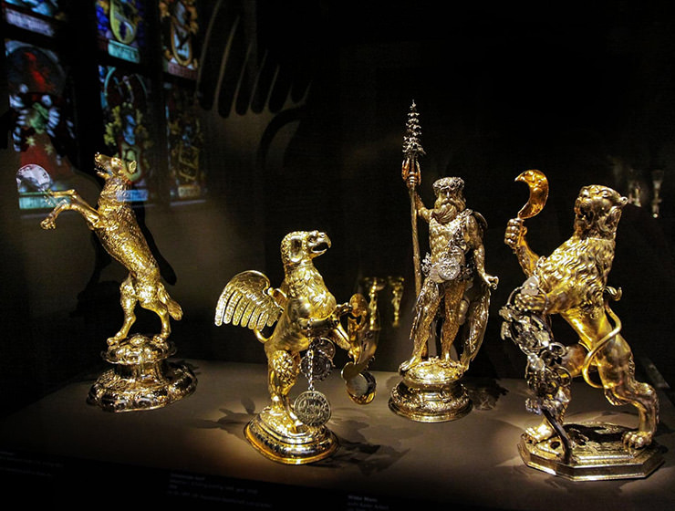 Golden artwork at Basel Historical Museum, one of the best museums in Basel, Switzerland, photo by Ivan Kralj